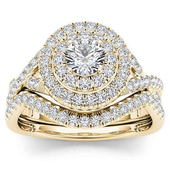 Womens 3/4 CT. T.W. Genuine White Diamond 10K Gold Bridal Set