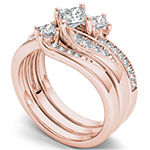 Womens 1 CT. T.W. Diamond 10K Rose Gold Bridal Set