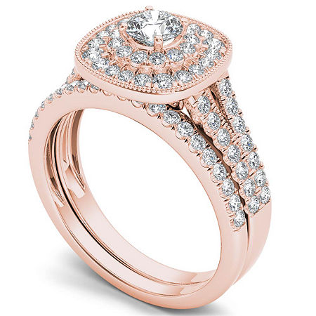 Womens 3/4 CT. T.W. Genuine White Diamond 14K Gold Bridal Set, 8 1/2