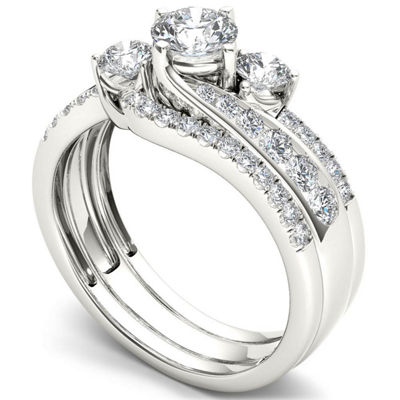 Womens 1 1/4 CT. T.W. White Diamond 14K Gold Bridal Set