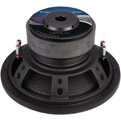 Power Acoustik GW3-12 Gothic Series 2? Dual Voice-Coil Subwoofer (12IN; 2;500 Watts)