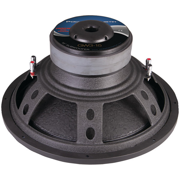 Power Acoustik GW3-15 Gothic Series 2? Dual Voice-Coil Subwoofer (15IN; 3;000 Watts)