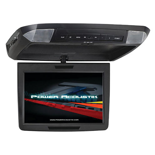 Power Acoustik PMD-112 11.2IN Ceiling-Mount SwivelDVD Entertainment System with IR & FM Transmitters & 3 Interchangeable Skins