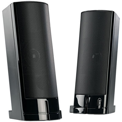Digital Innovations 4330200 AcoustiX Speaker Systerm 2.0 USB Desktop/Soundbar