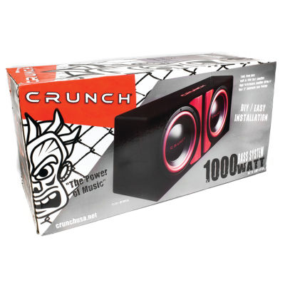 Crunch CR212A CR-212A Powered Dual 12IN SubwooferSystem
