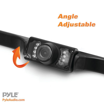 Pyle PLCM46 4.3IN Monitor & Backup Swivel-Angle Adjustable Camera System with Distance-Scale Lines & Parking Assist