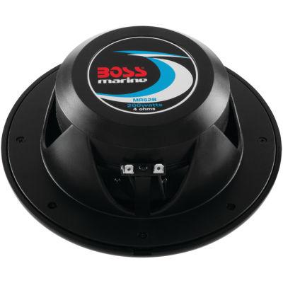 BOSS Audio Systems MR62B 2-Way Full-Range Marine Speakers (6.5IN; Black)