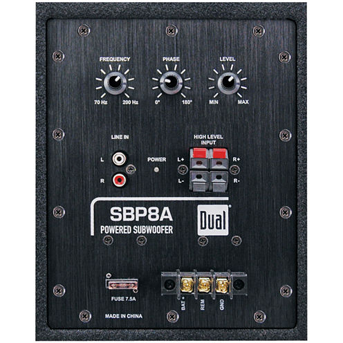 Dual Electronics SBP8A 8IN Amplified Bandpass Box