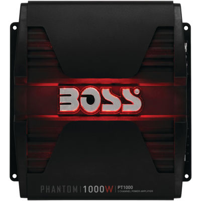 BOSS Audio Systems PT1000 Phantom Series Full-Range Class AB Amp (2 Channels; 1;000 Watts max)