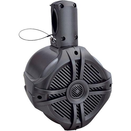 Power Acoustik MWT?80T Marine-Grade 8IN 750-Watt Wake Tower Enclosure & Speaker System (Titanium)