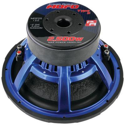 Power Acoustik MOFOS-12D4 MOFO Type S Series Subwoofer (12IN; 2;500 Watts max; Dual 4?)