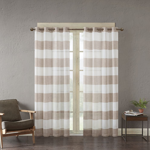 Urban Habitat Chapin Grommet-Top Sheer Curtain Panel