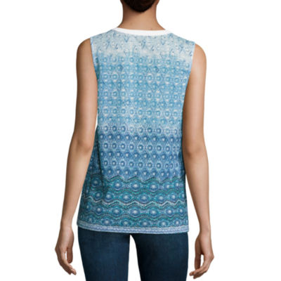 Liz Claiborne Embellished Knit Tank Top