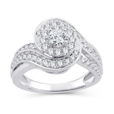 Womens 1 CT. T.W. White Diamond 10K Gold Engagement Ring