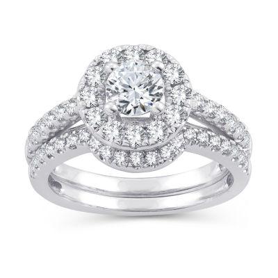 Womens 1 1/2 CT. T.W. Round White Diamond 10K Gold Engagement Ring