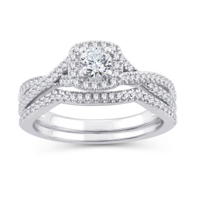 Womens 5/8 CT. T.W. White Diamond 10K Gold Engagement Ring