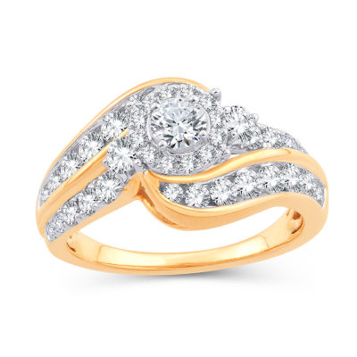 Womens 1 1/2 CT. T.W. White Diamond 10K Gold Engagement Ring