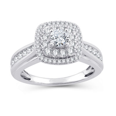 Womens 1 CT. T.W. White Diamond 10K Gold Engagement Ring