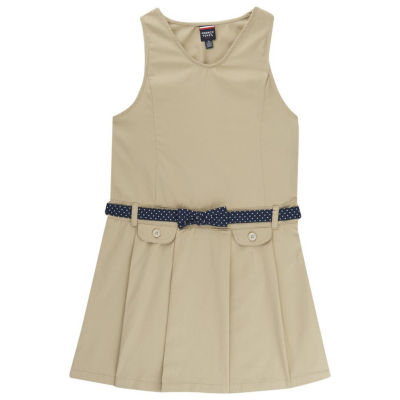 French Toast Belted Sleeveless Jumper Girls