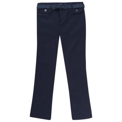 French Toast Girls Mid Rise Bootcut Flat Front Pant-Preschool