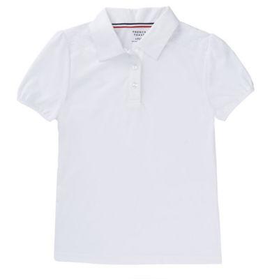French Toast Lace Trim Short Sleeve Jersey Polo Shirt - Preschool Girls