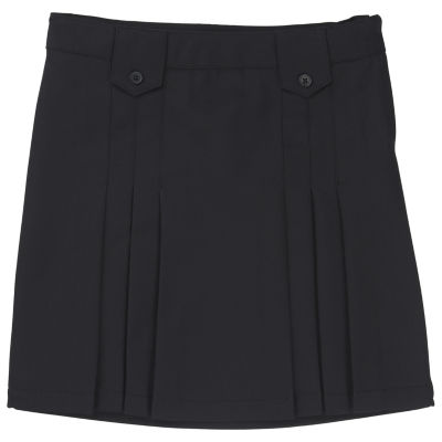 French Toast Woven Pleated Skirt - Big Kid Girls Plus