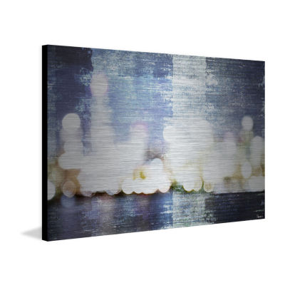 City Scape Painting Print on Aluminum