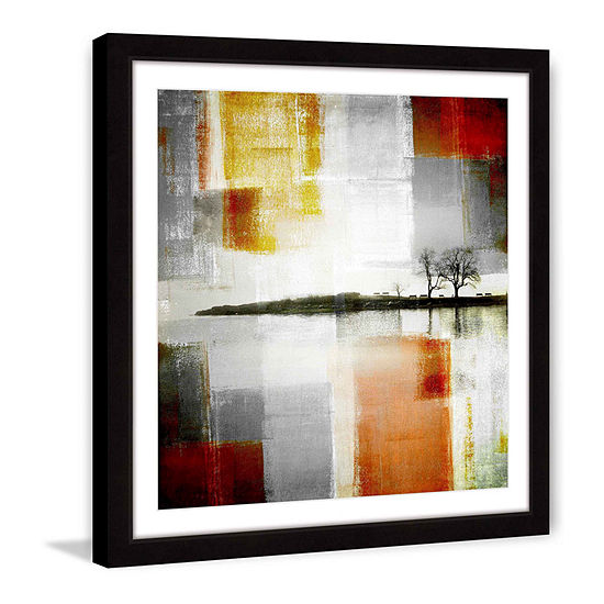 Distant Shore Framed Painting Print