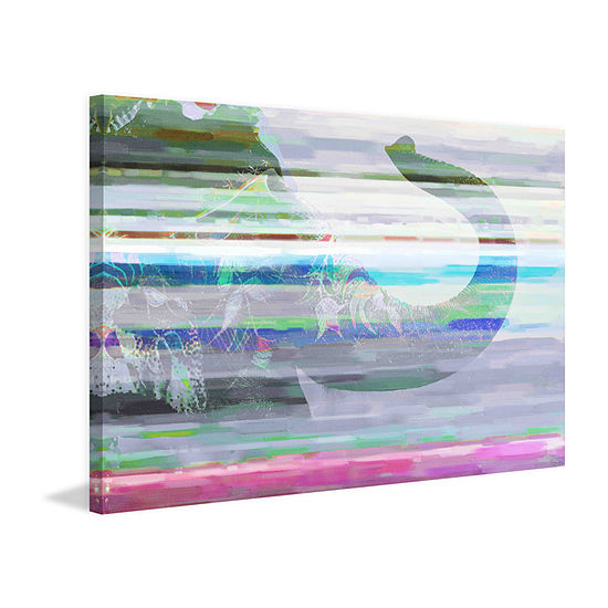 Happy Pachyderm Painting Print on Wrapped Canvas