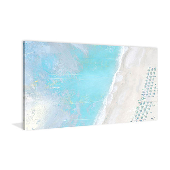 Hazy Beach Painting Print On Wrapped Canvas