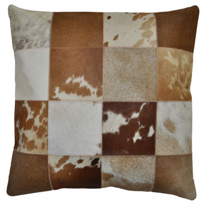 St. Croix Trading Matador Leather Hide Hair On Pillow