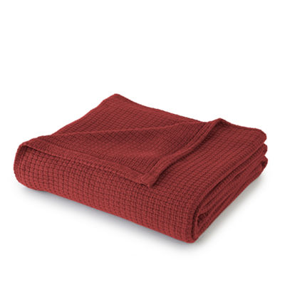 Solid Cotton Thermal Blanket