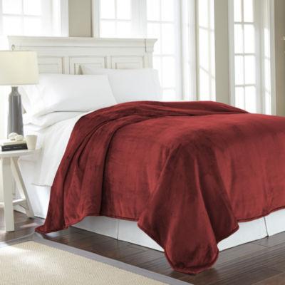 Solid Velvet Plush Blanket