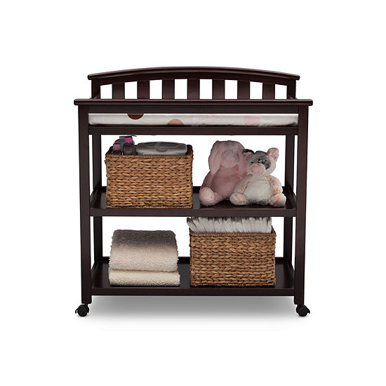 Delta Children Arched 2-Drawer 2-Shelf Changing Table