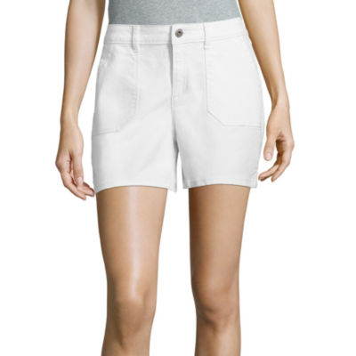 "Liz Claiborne 5"" Utility Denim Shorts"