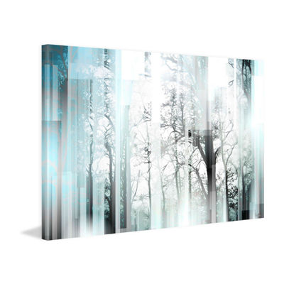 Wild Trees Painting Print on Wrapped Canvas