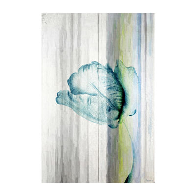 Water Flower Painting Print on Wrapped Canvas