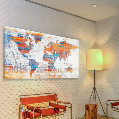 Warm World Painting Print on Wrapped Canvas