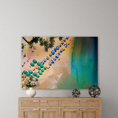 Umbrella Colors Painting Print on Wrapped Canvas