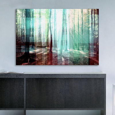 Tree Rays Painting Print on Wrapped Canvas
