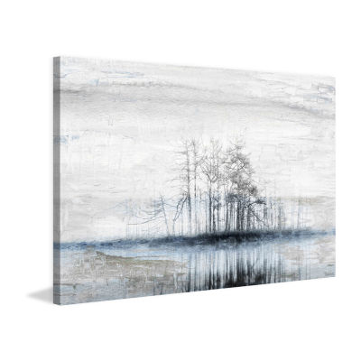 Tree Island Painting Print on Wrapped Canvas