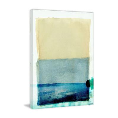 Bondi Lake Painting Print on Aluminum