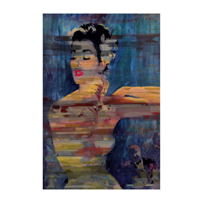 Bright Red Lips Painting Print on Wrapped Canvas