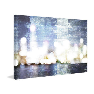 City Scape Painting Print on Wrapped Canvas