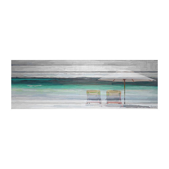 By the Beach Painting Print on Wrapped Canvas