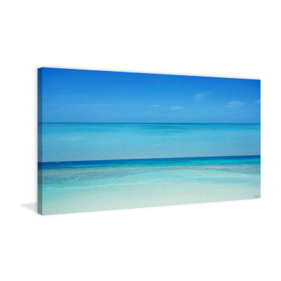 Clear Blue Painting Print on Wrapped Canvas