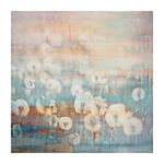 Hazy Dandelions Painting Print on Wrapped Canvas