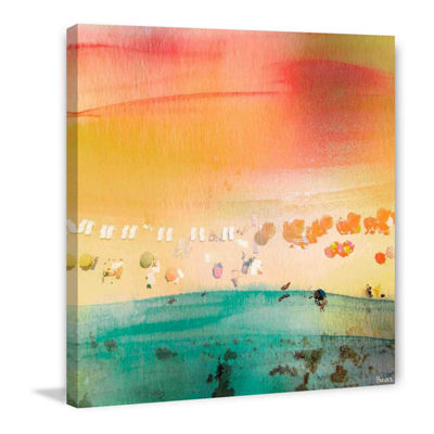 Dozing on the Beach Painting Print on Wrapped Canvas