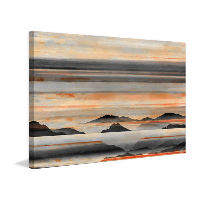 Hidden Mountains Painting Print on Wrapped Canvas