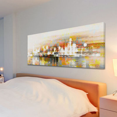 Hong Kong Painting Print on Wrapped Canvas